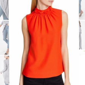 Ted Baker Ruffles Neck Blouse Top 0 XS